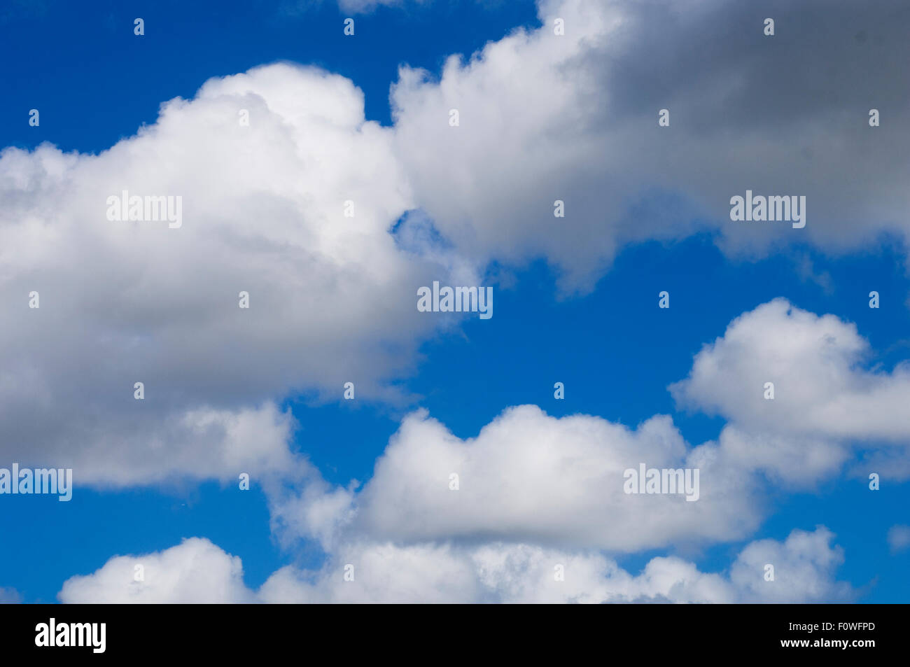 Cloudy bright with blue sky. landscape - Stock Image