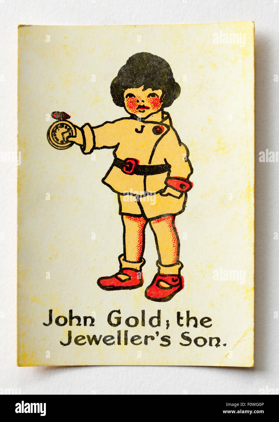 John Gold the Jewellers Son from pack Happy Familes Playing Cards - Stock Image