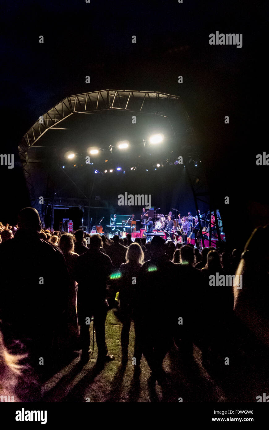 Castle Howard, Yorkshire, UK. 21st August, 2015. 21st August 2015: Jools Holland and his Rhythm and Blues Orchestra - Stock Image