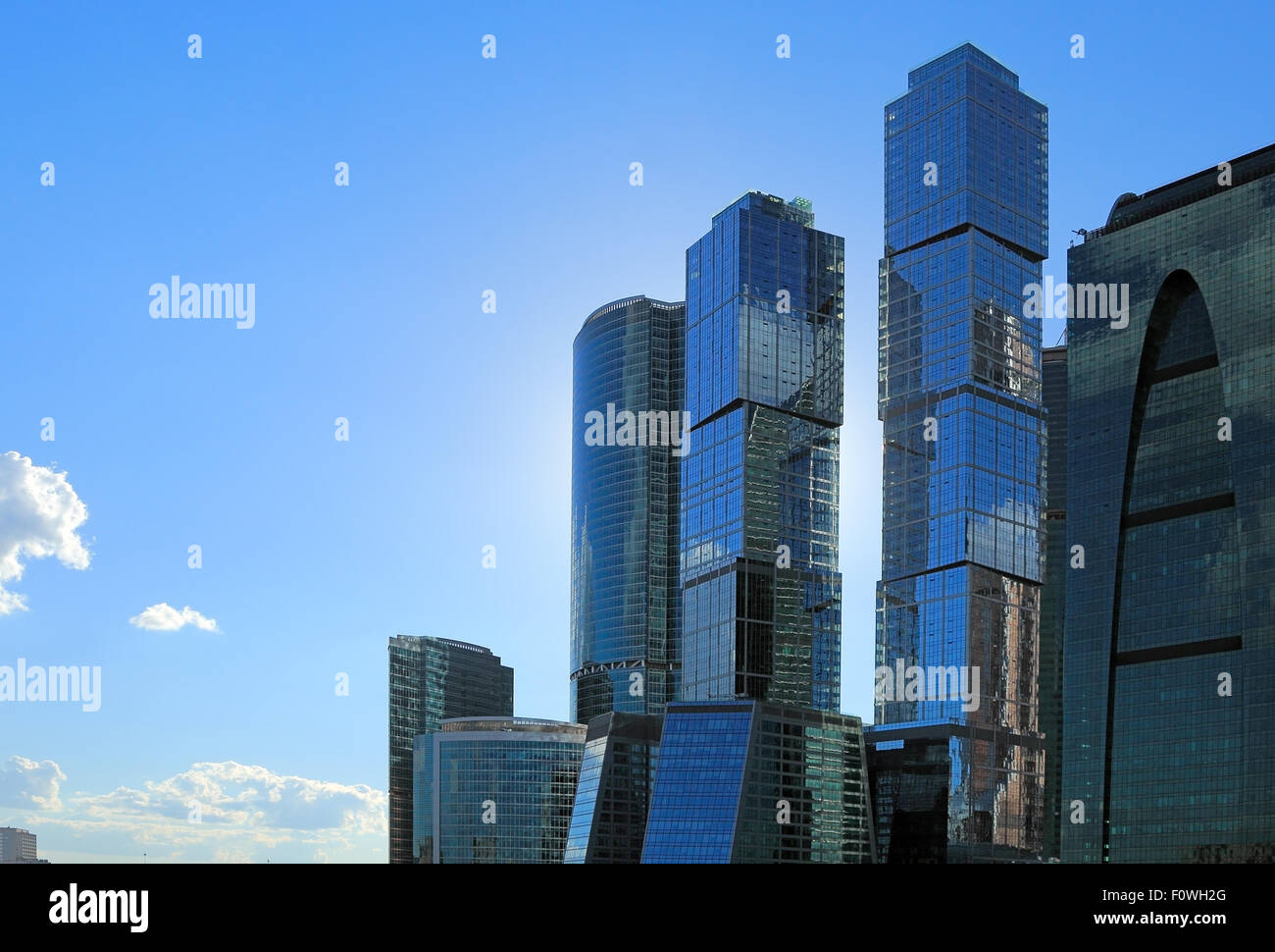 contemporary office buildings. Group Of Contemporary Office Buildings In Moscow City District.