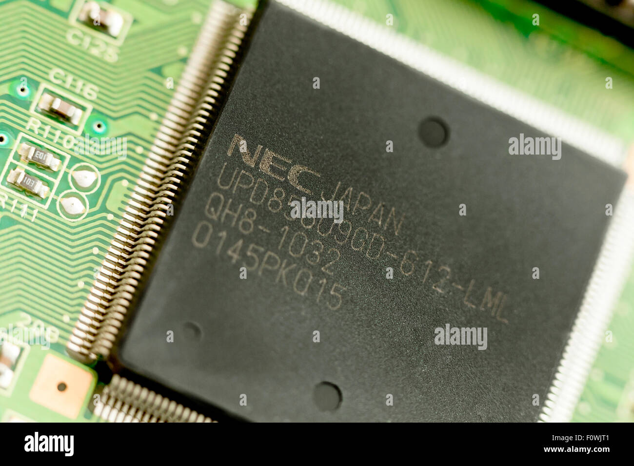 NEC USB controller on printer circuit board - Stock Image