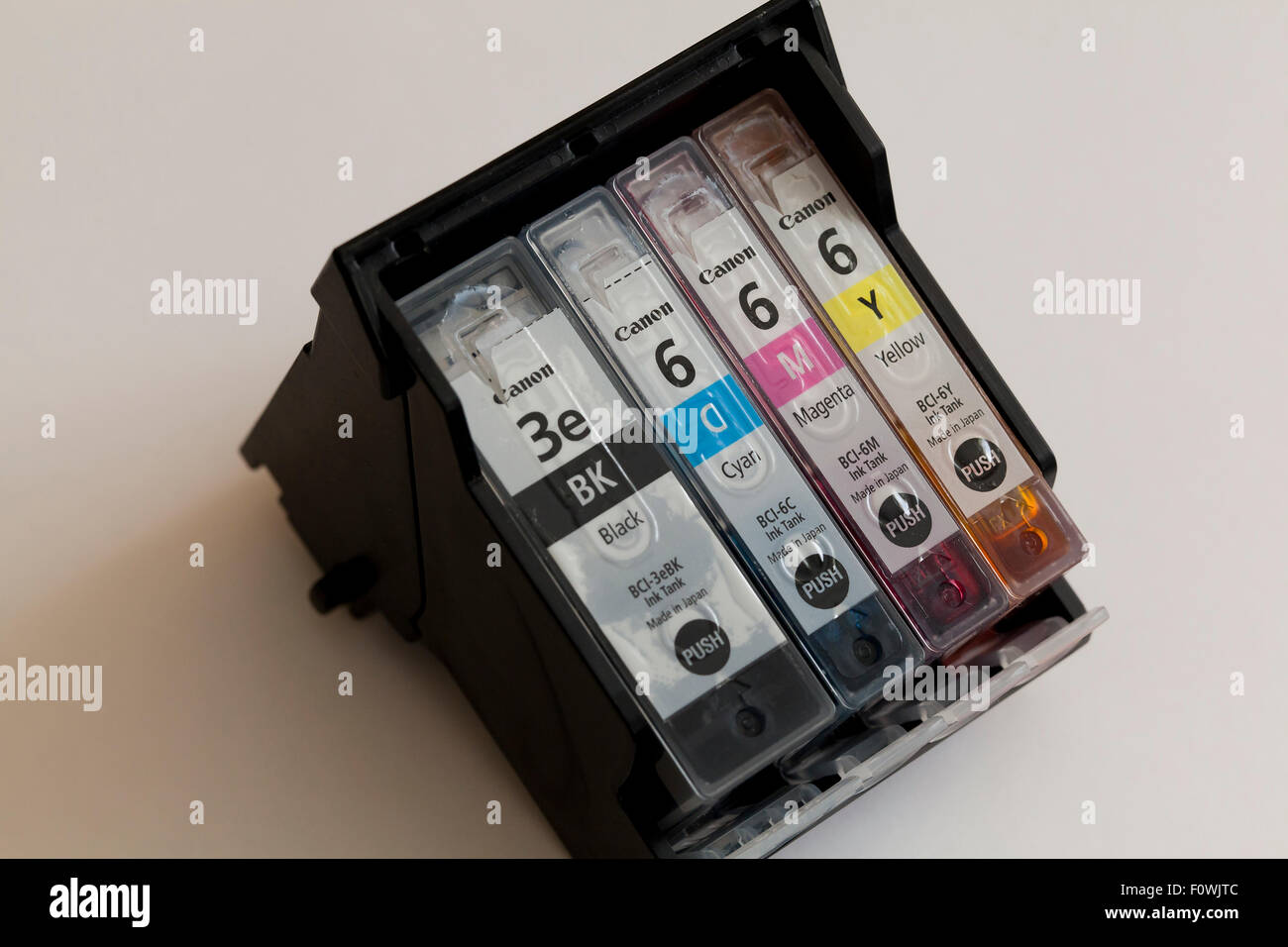 Canon inkjet color printer ink cartridge - USA - Stock Image
