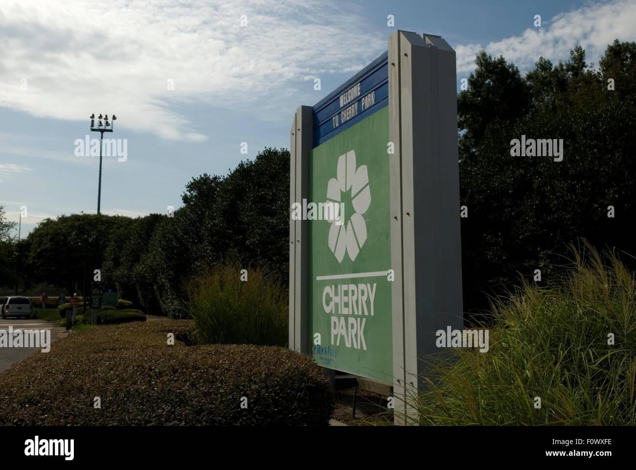 Cherry Park Rock Hill South Carolina USA - Stock Image