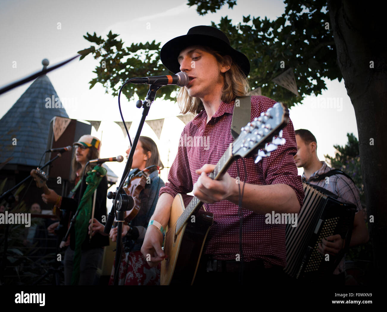 Broadstairs Folk Festival, 8th August 2015. - Stock Image