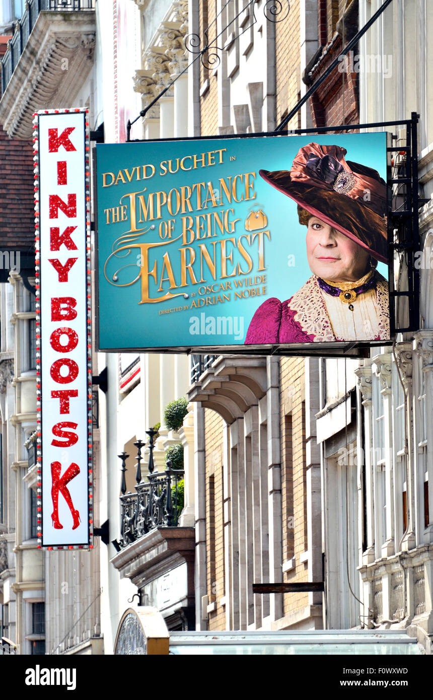 London, England, UK. David Suchet in The Importance of Being Earnest at the Vaudeville Theatre, Strand. (+Kinky - Stock Image