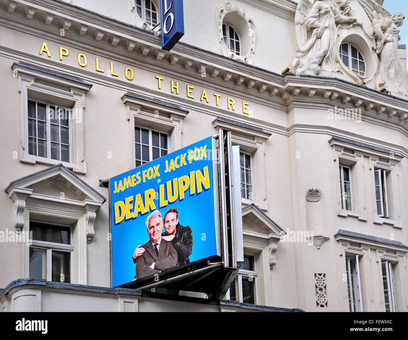 London, England, UK. Dear Lupin at the Apoolo Theatre, Shaftesbury Avenue, staring James and Jack Fox (August 2015) - Stock Image