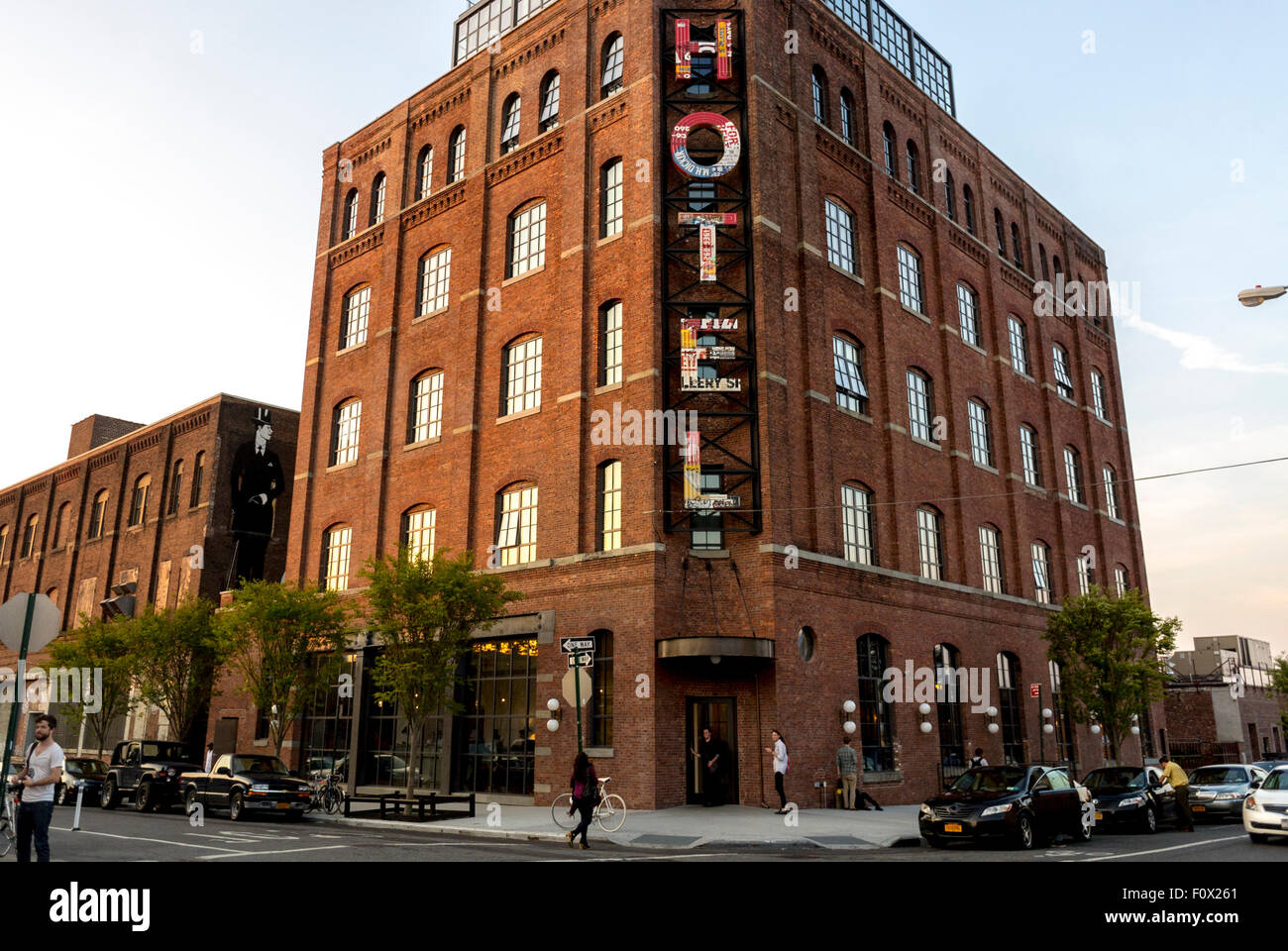 New York City, USA, Front Hotel, in Renovated Factory