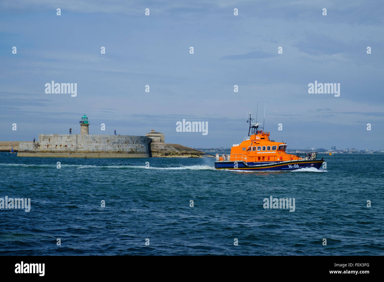 rnli lifeboat dun laoghaire 14-06 windsor runner Stock Photo