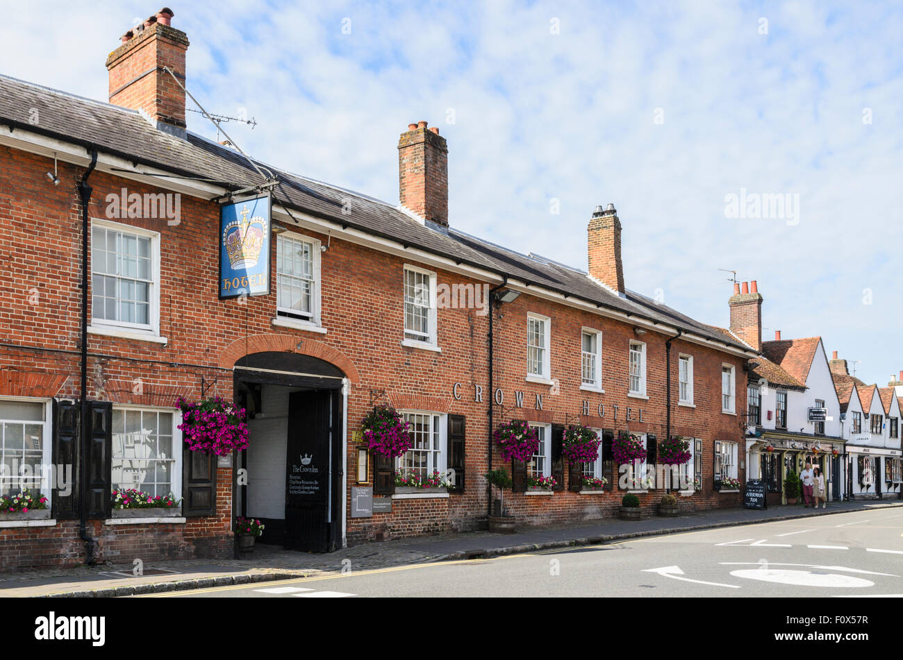 The Crown Inn, High St, Old Amersham, Buckinghamshire, England, UK. - Stock Image
