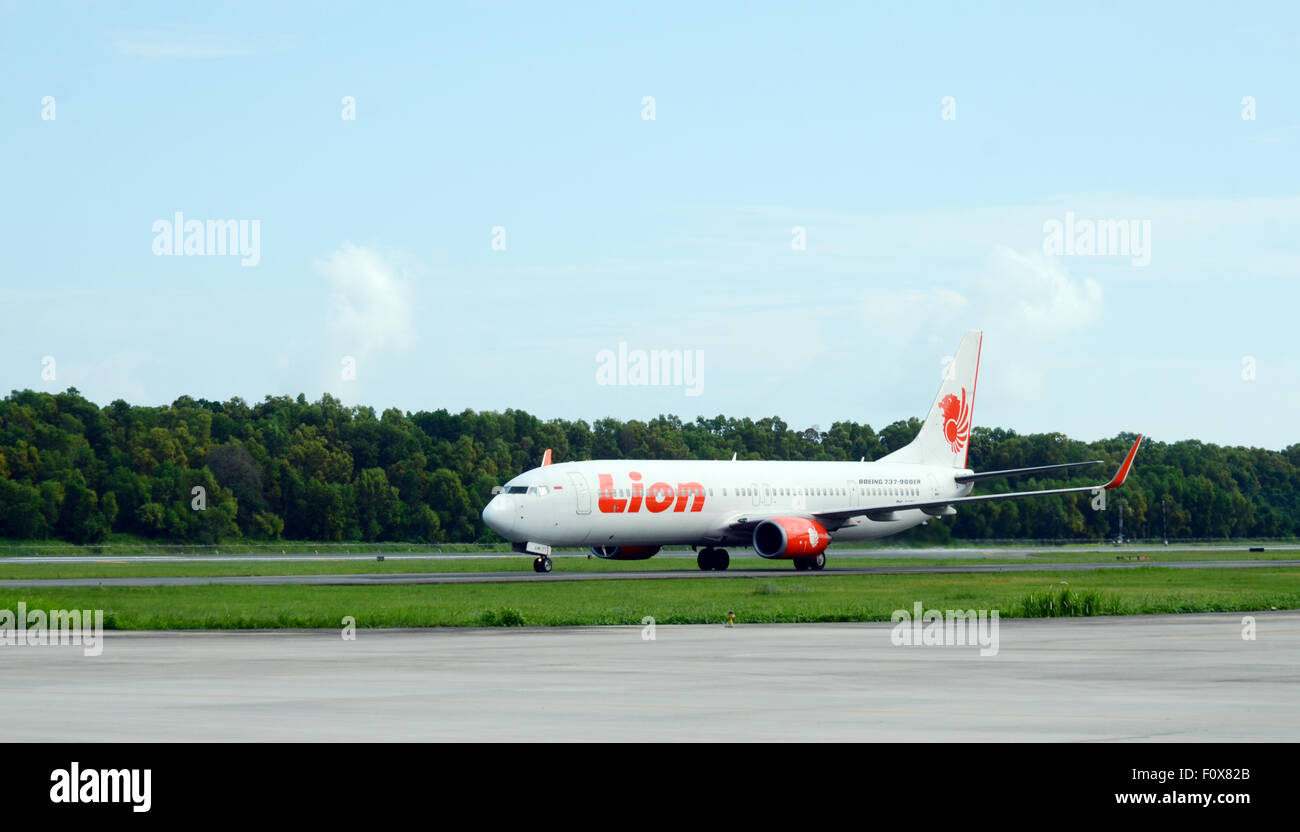 twin jet Boeing 737 900 ER ready for take off - Stock Image