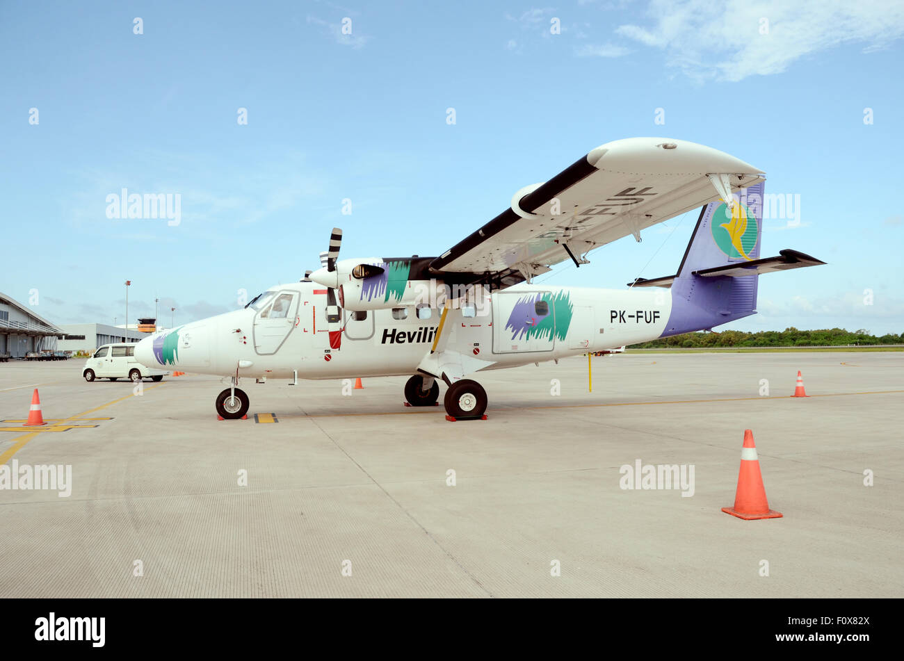 twin-engine  turboprop aircraft DHC-6 - Stock Image