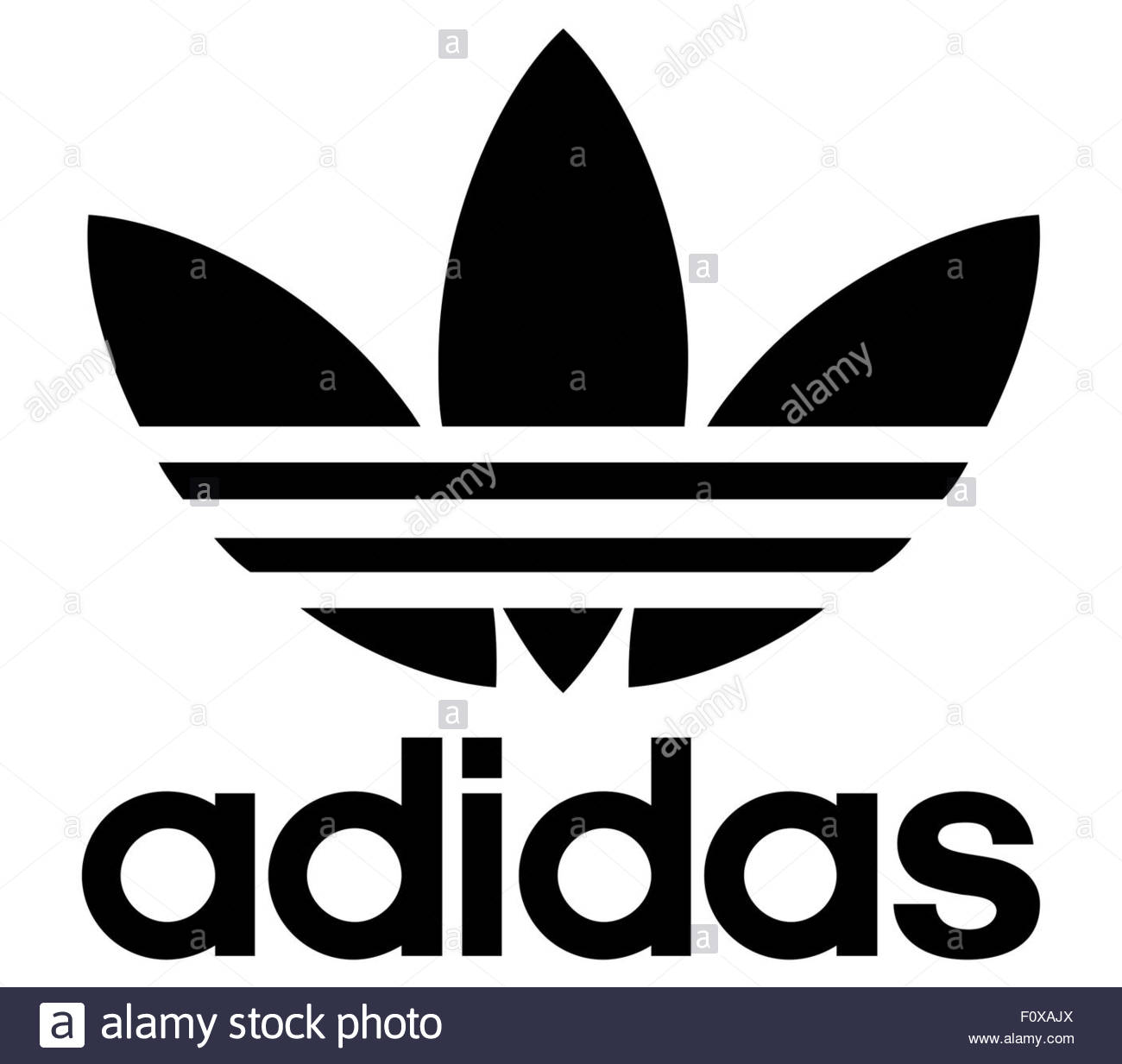 Adidas logo icon Stock Photo