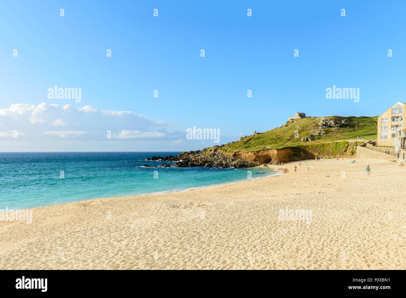 Porthmeor Beach, St Ives, Cornwall, England, U.K. Stock Photo