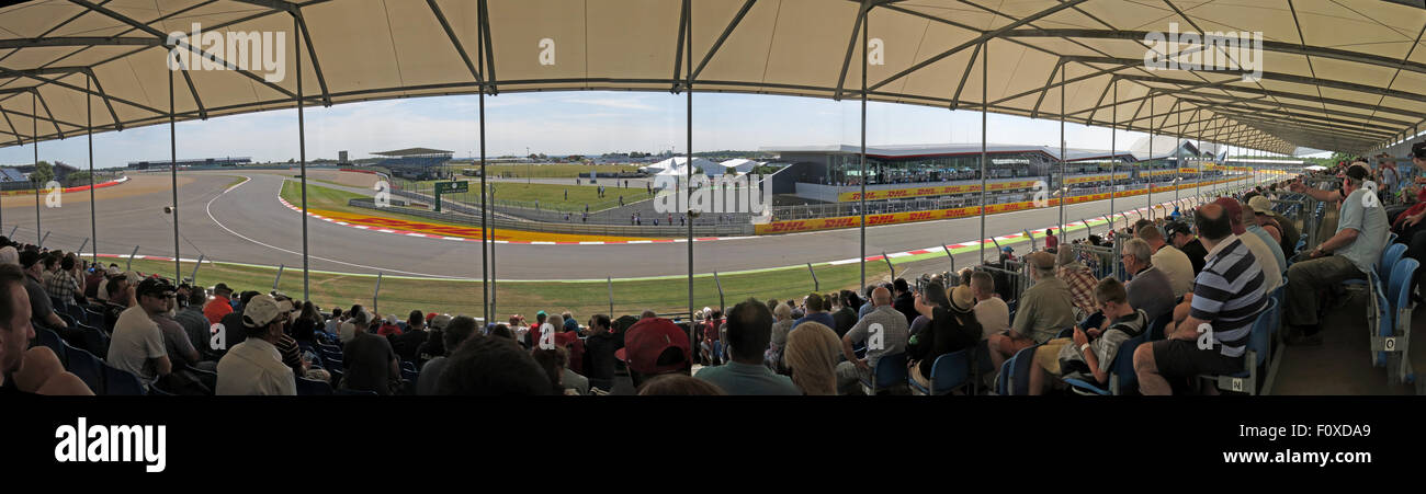 Silverstone stand panorama F1 Grand Prix Great Britain - Stock Image