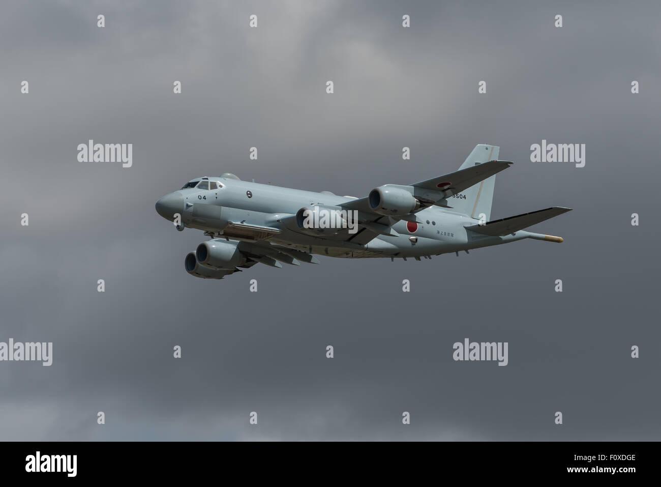 Japanese P1 Maritime Patrol Aircraft - Stock Image