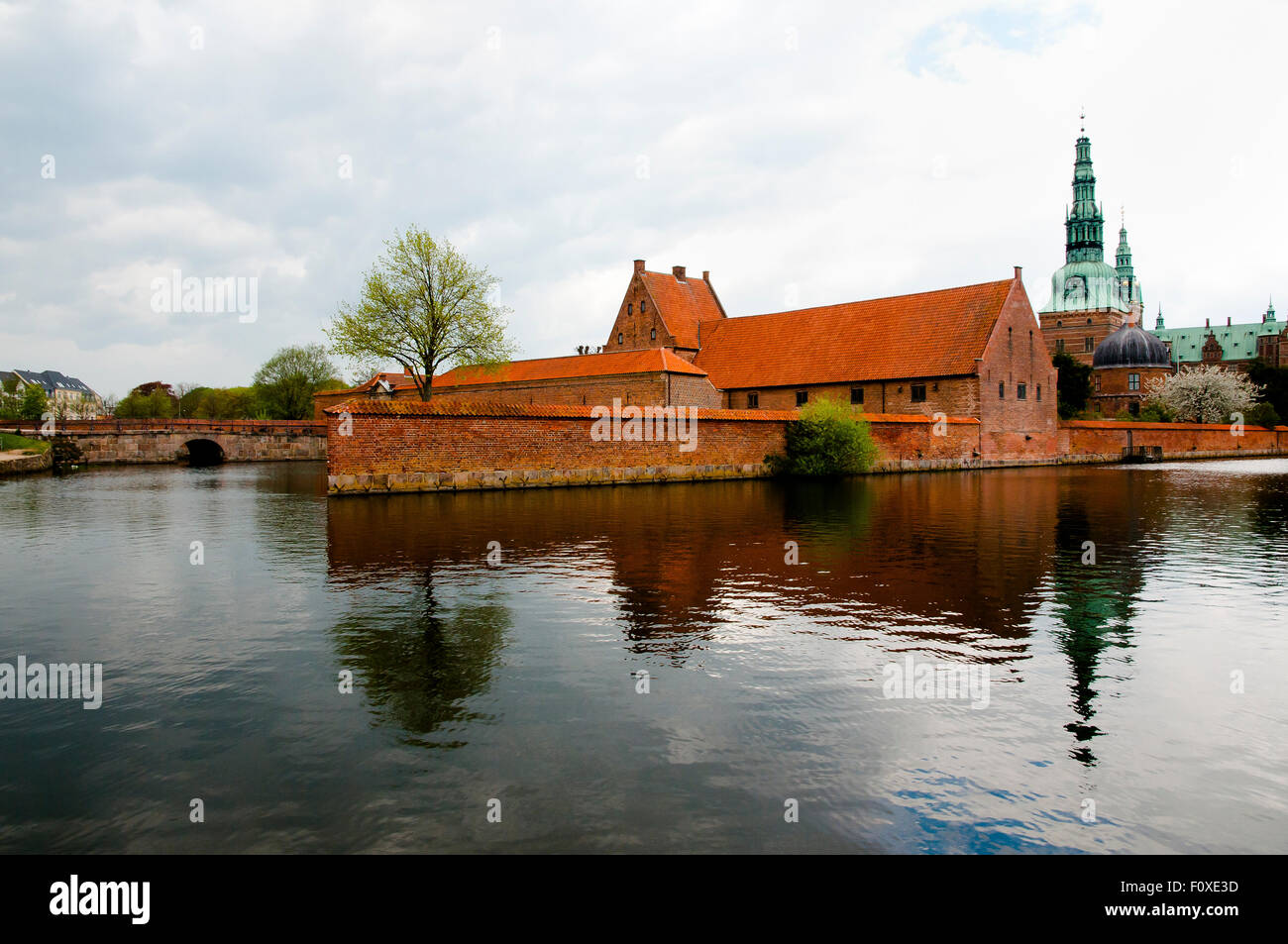 Palace Lake of Frederiksborg Castle - Hillerod - Denmark - Stock Image