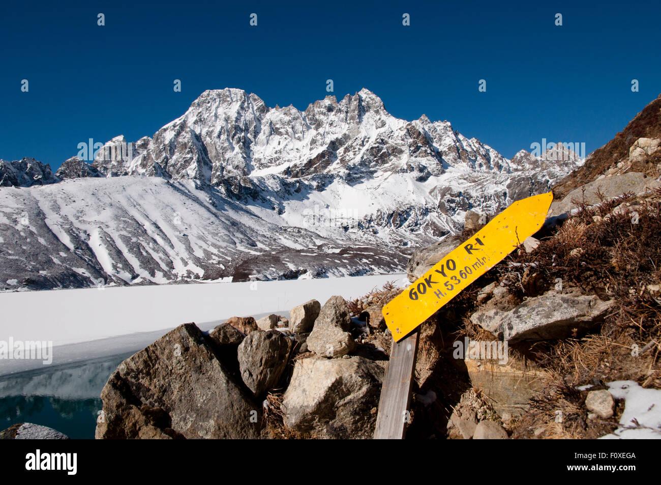 Gokyo Ri Ascent - Nepal - Stock Image