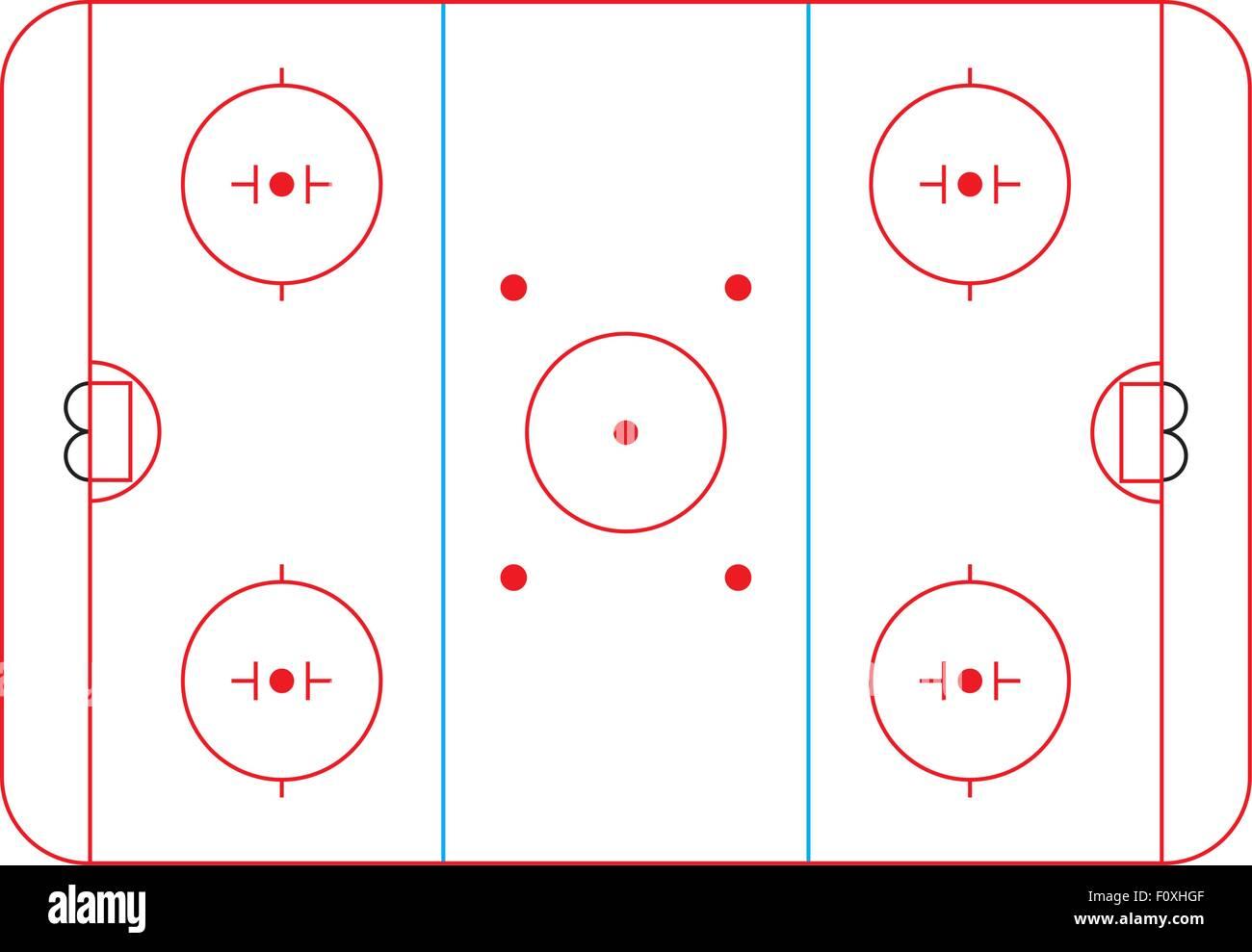 Ice Hockey Rink Diagram  Vector Illustration Stock Vector Art  U0026 Illustration  Vector Image