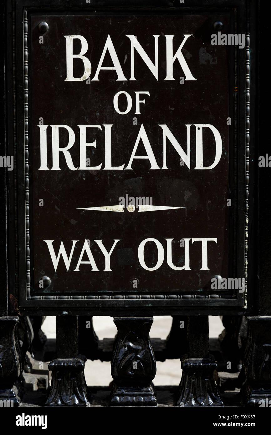 Bank of Ireland, Dublin, Ireland, Europe - Stock Image