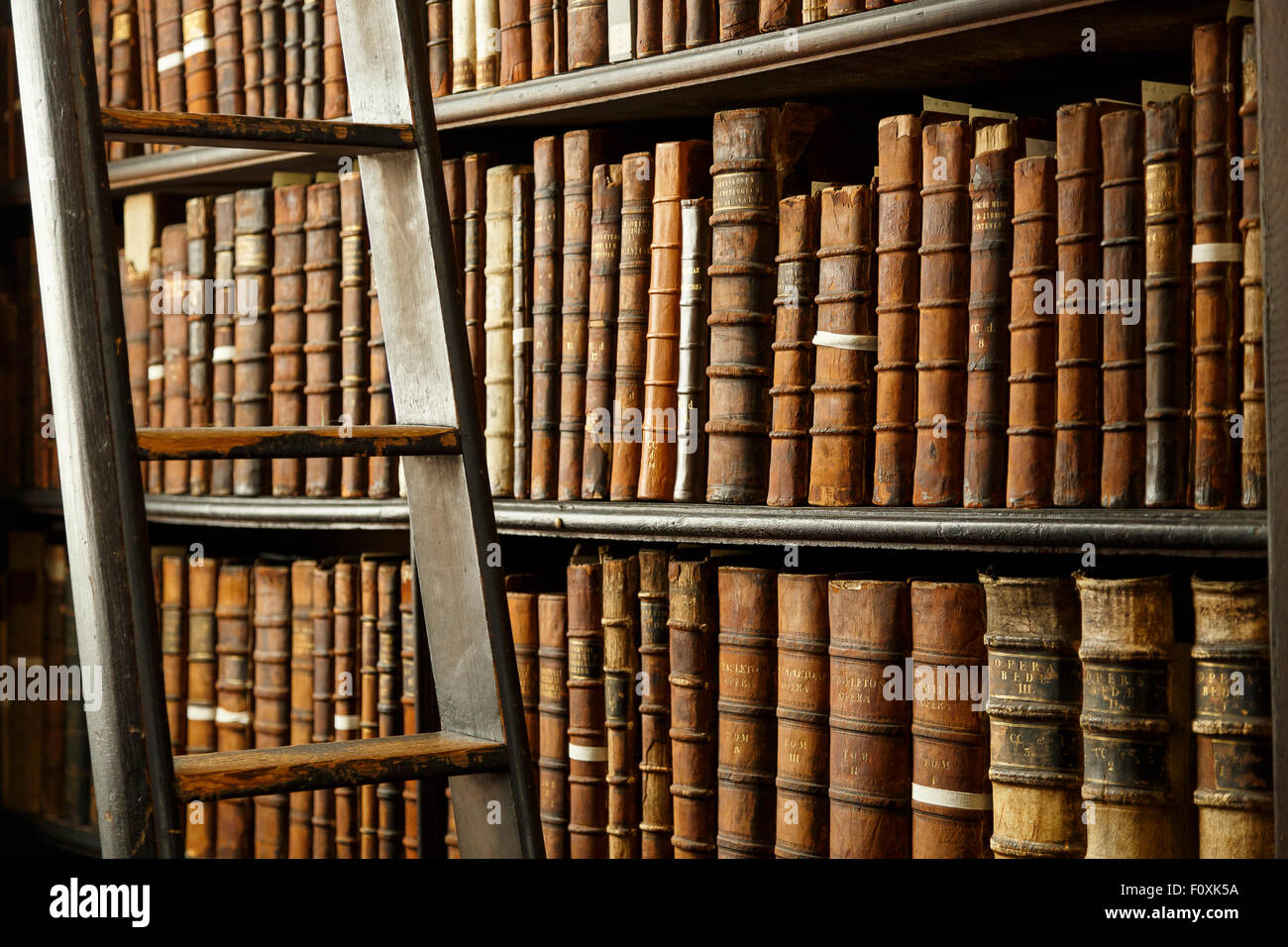 Trinity college library, Dublin, Ireland, Europe - Stock Image