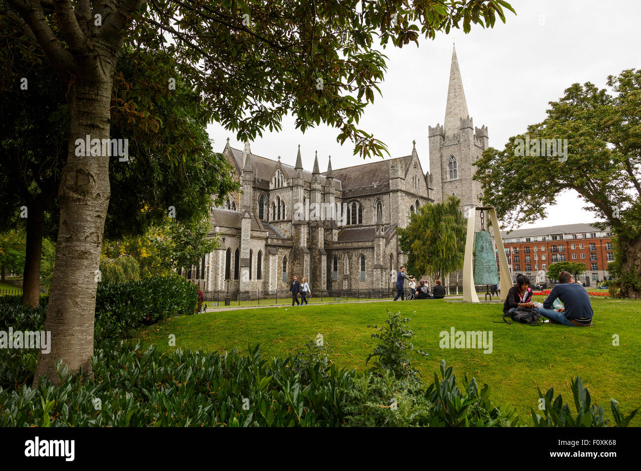 Park, St´Patrick´s Cathedral, Dublin, Ireland, Europe - Stock Image