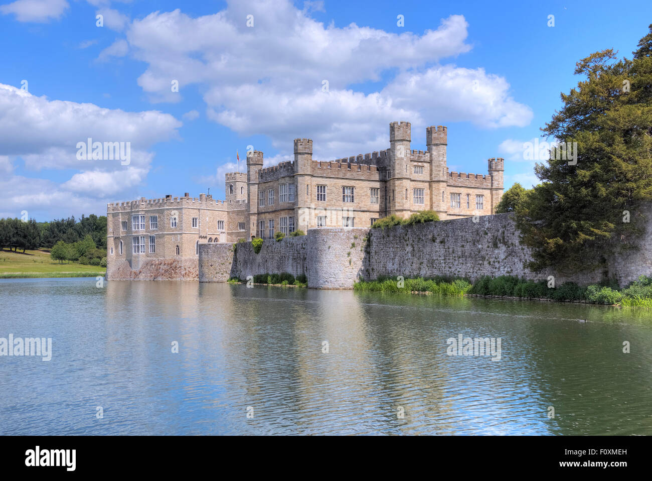Leeds Castle, Maidstone, Kent, England, United Kingdom - Stock Image
