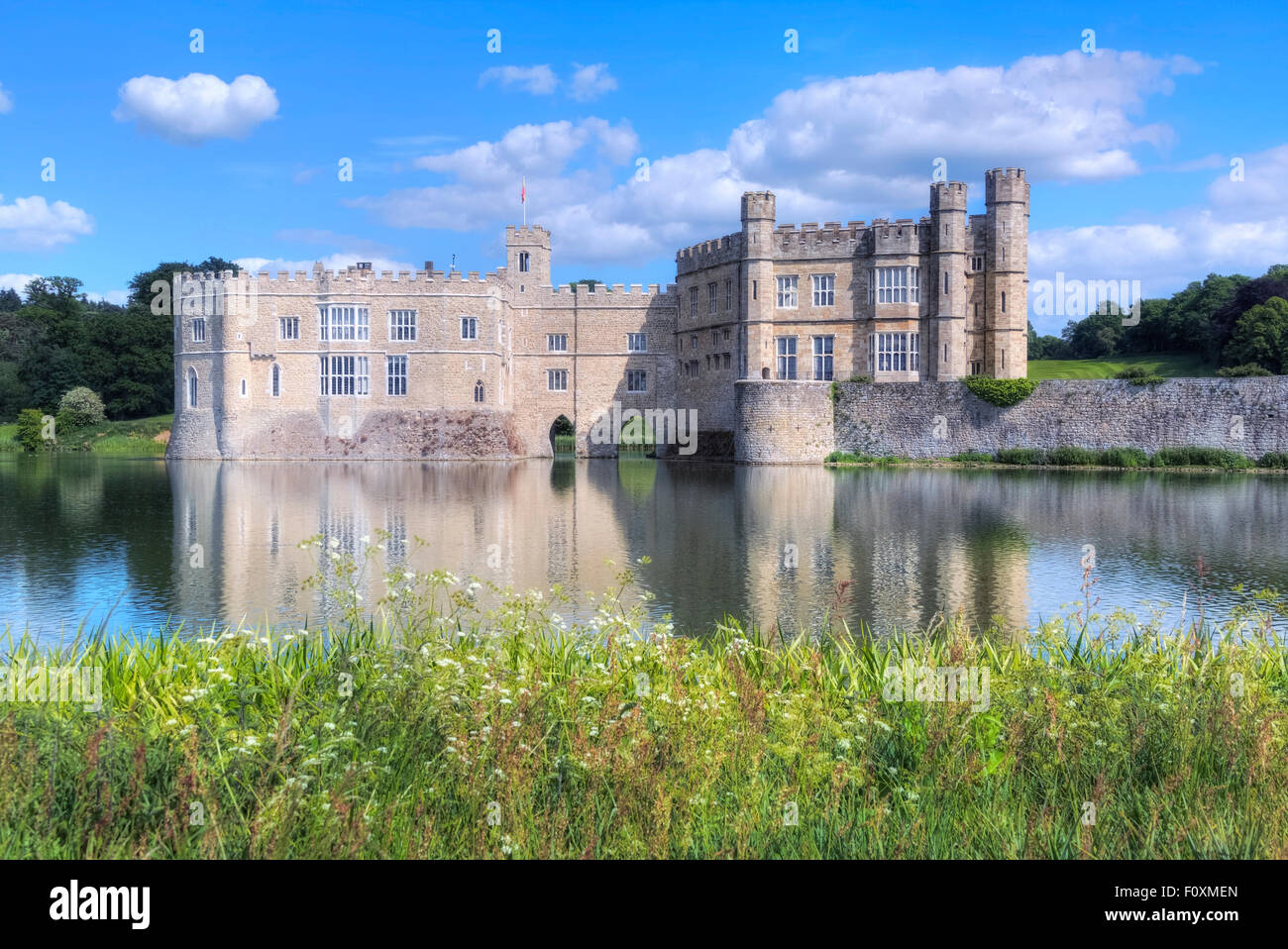 Leeds Castle, Maidstone, Kent, England, United Kingdom Stock Photo