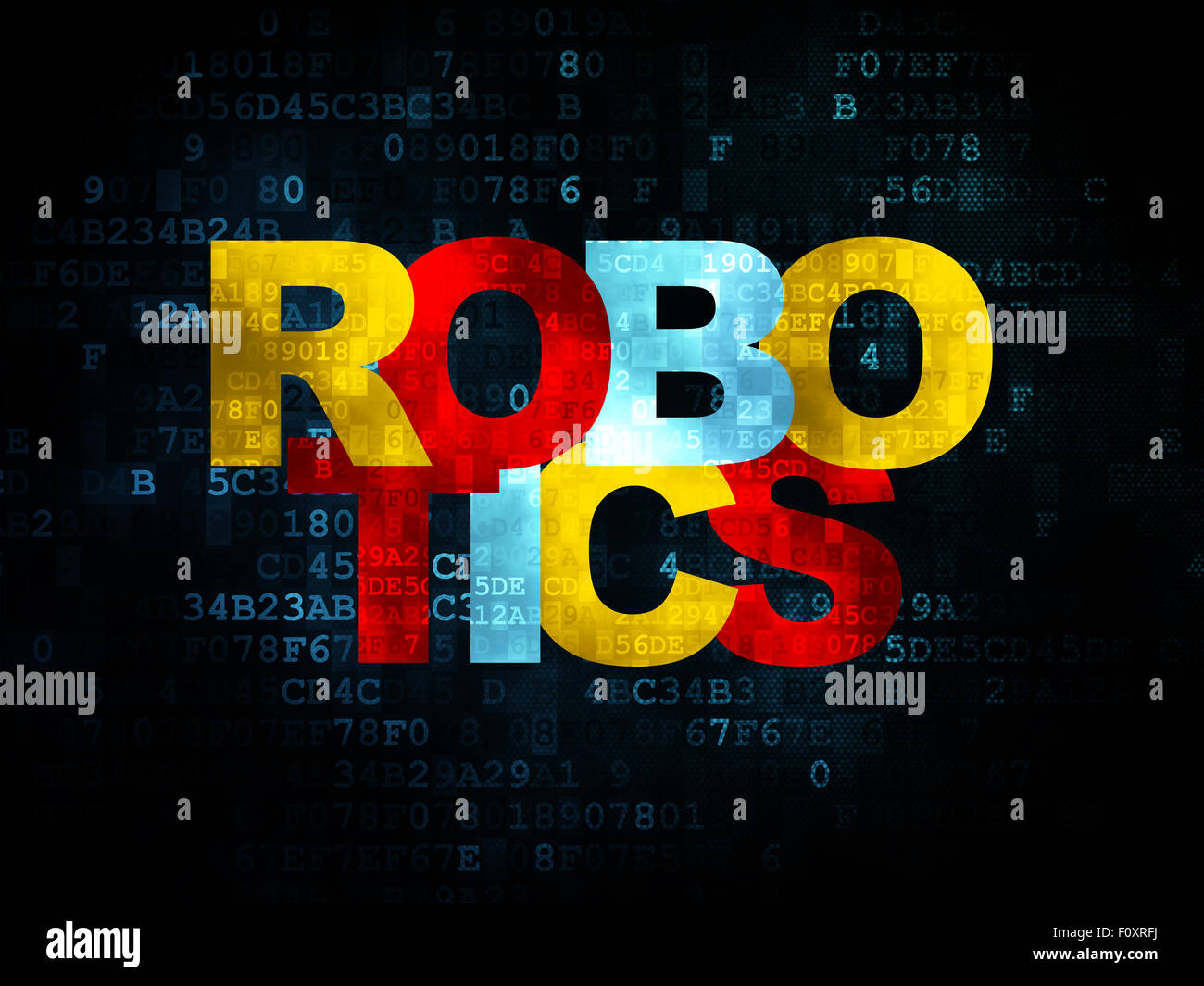 Science Concept Robotics On Digital Background Stock Photo