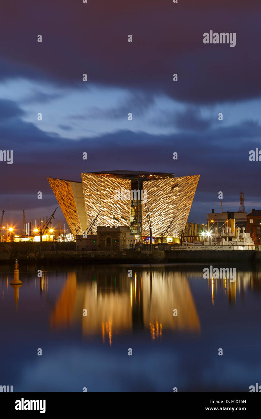 Titanic Museum, Belfast, North Ireland, United Kingdom, Europe - Stock Image