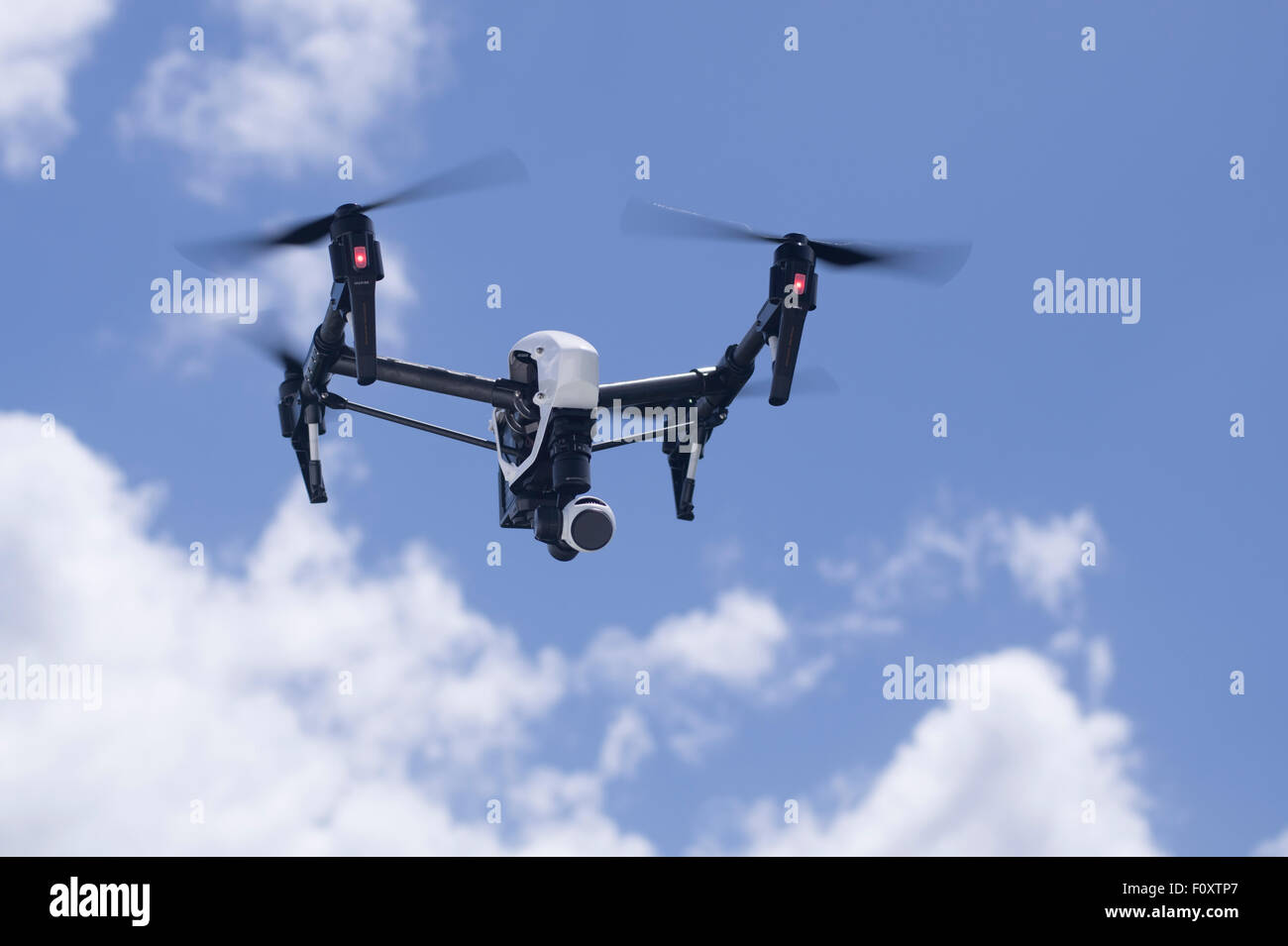 DJI Inspire Drone quadcopter a  commercial and recreational unmanned aerial vehicle for aerial photography and video - Stock Image