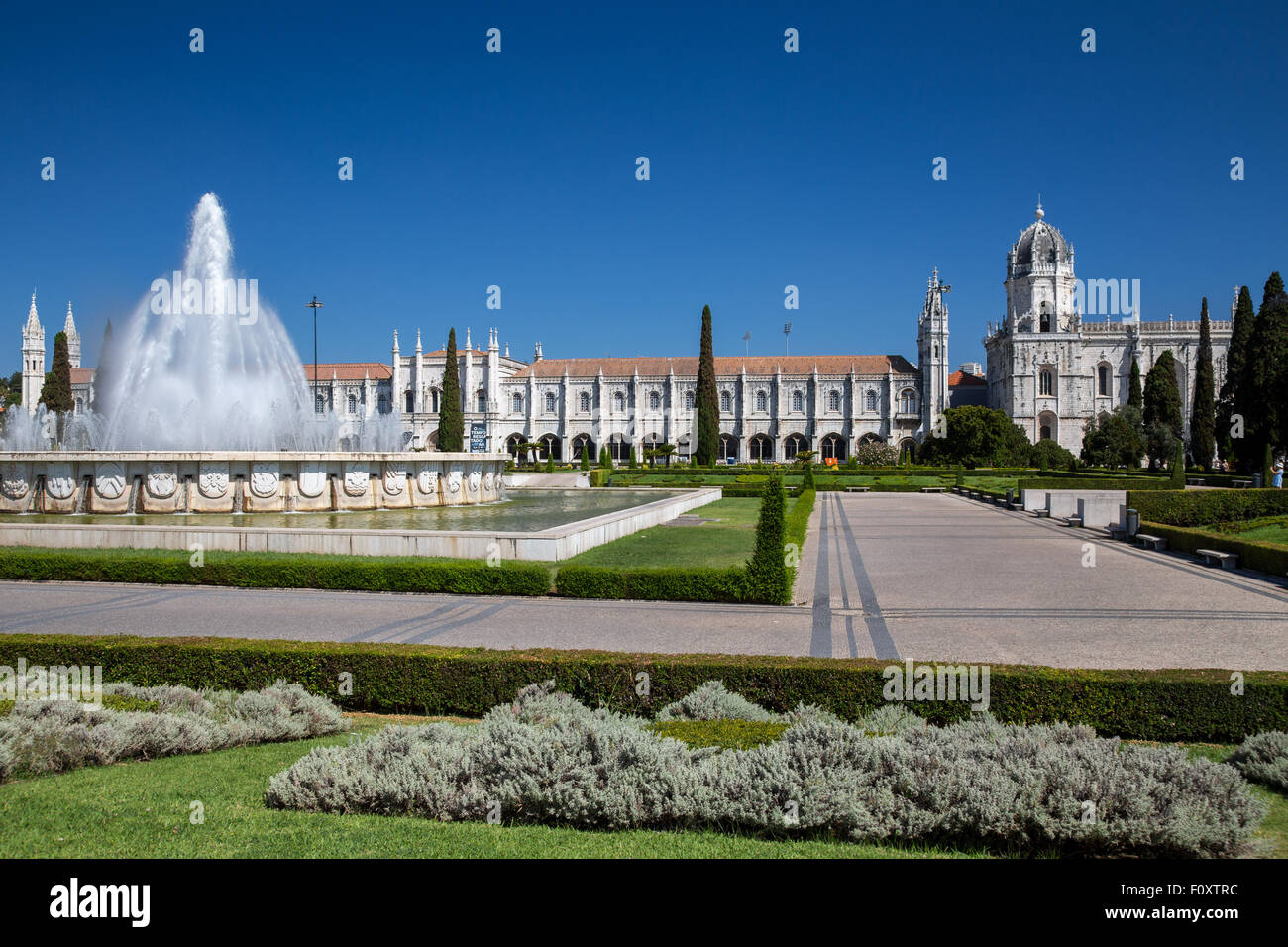 Mosteiro dos Jerónimos, the monastery at Belem, Lisbon, Portugal - Stock Image