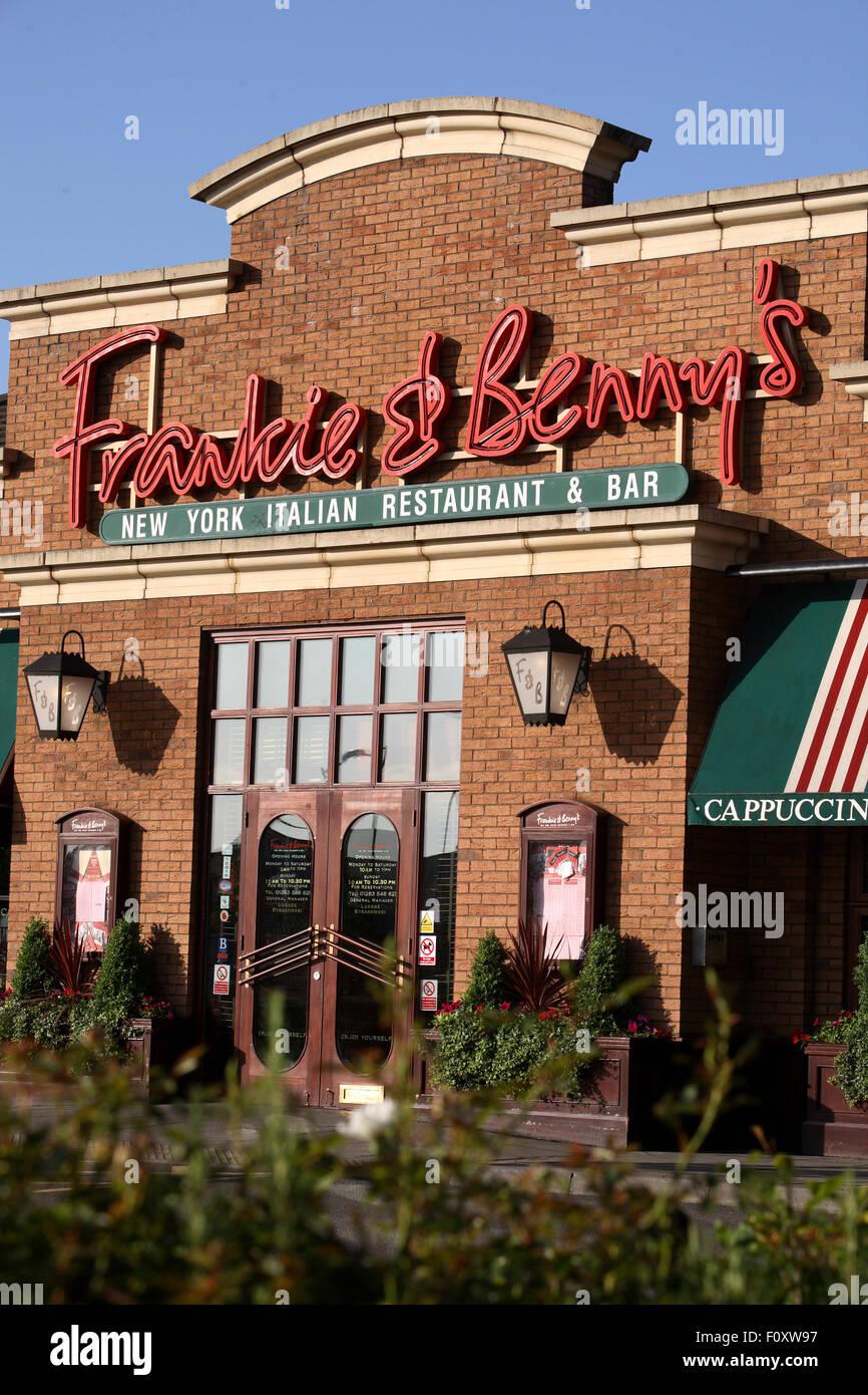 Frankie & Bennys  restaurant chain - Stock Image