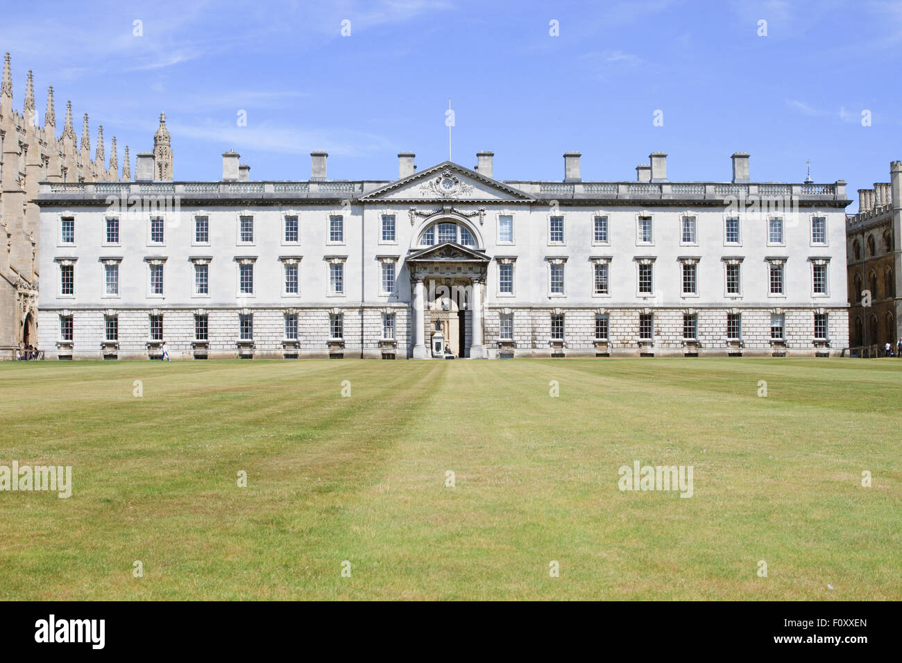 The Fellows' Building, King's College, Cambridge. - Stock Image