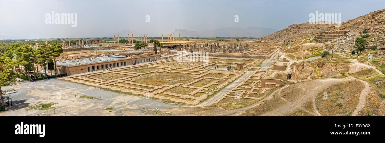 Persepolis panorama - Stock Image