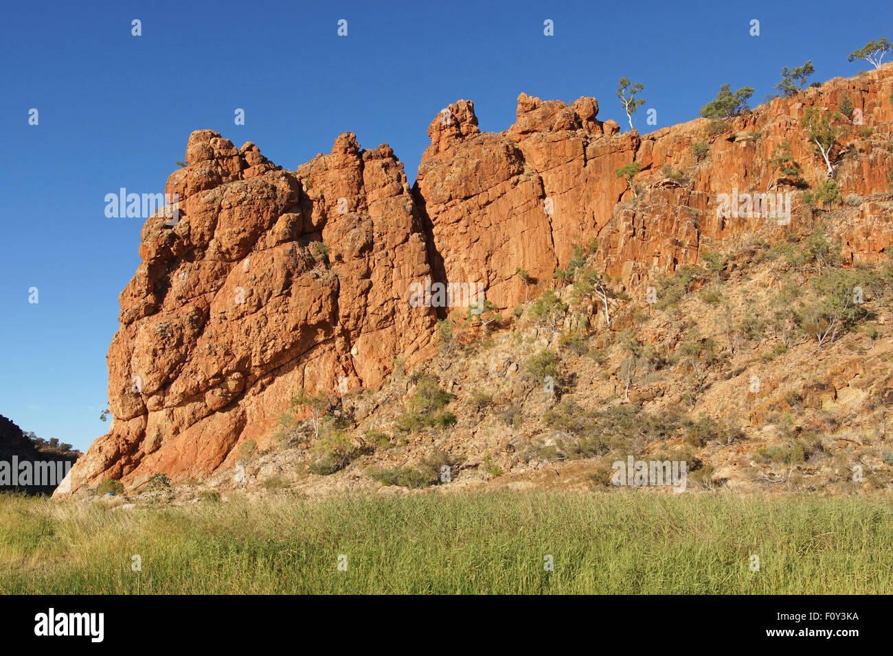 Glen Helen Gorge, West MacDonnell National Park, Northern Territory, Australia - Stock Image