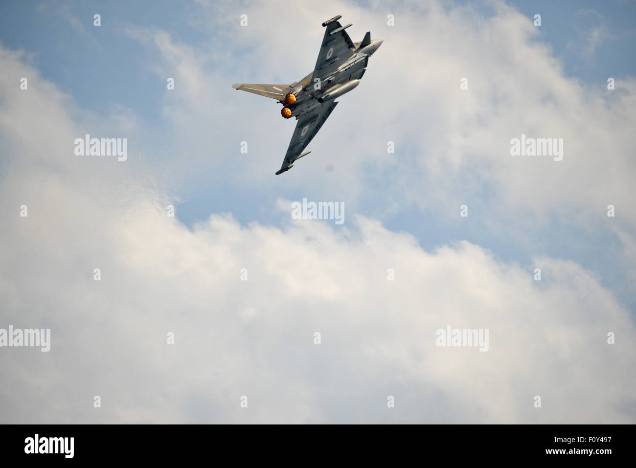 Typhoon Jet, In action over the skys of the UK Stock Photo