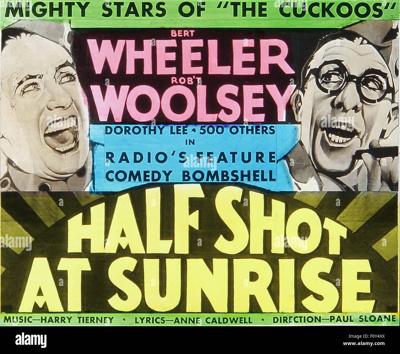Half Shot at Sunrise - 06  - Movie Poster - Stock Image