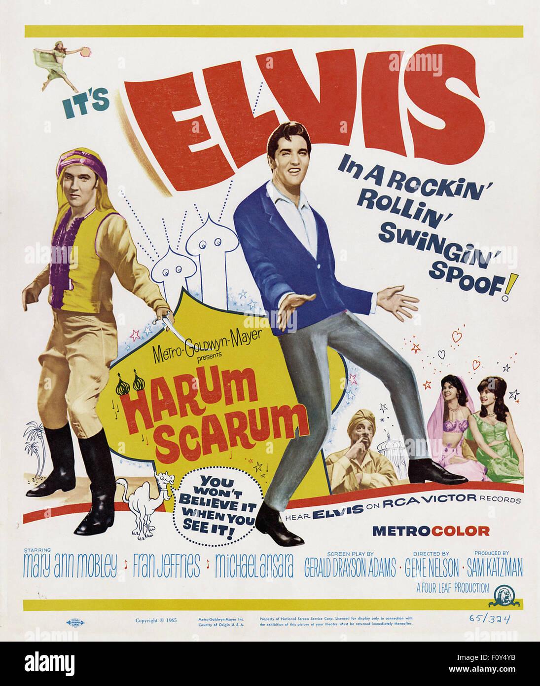 Harum Scarum - 20 - Movie Poster - Stock Image