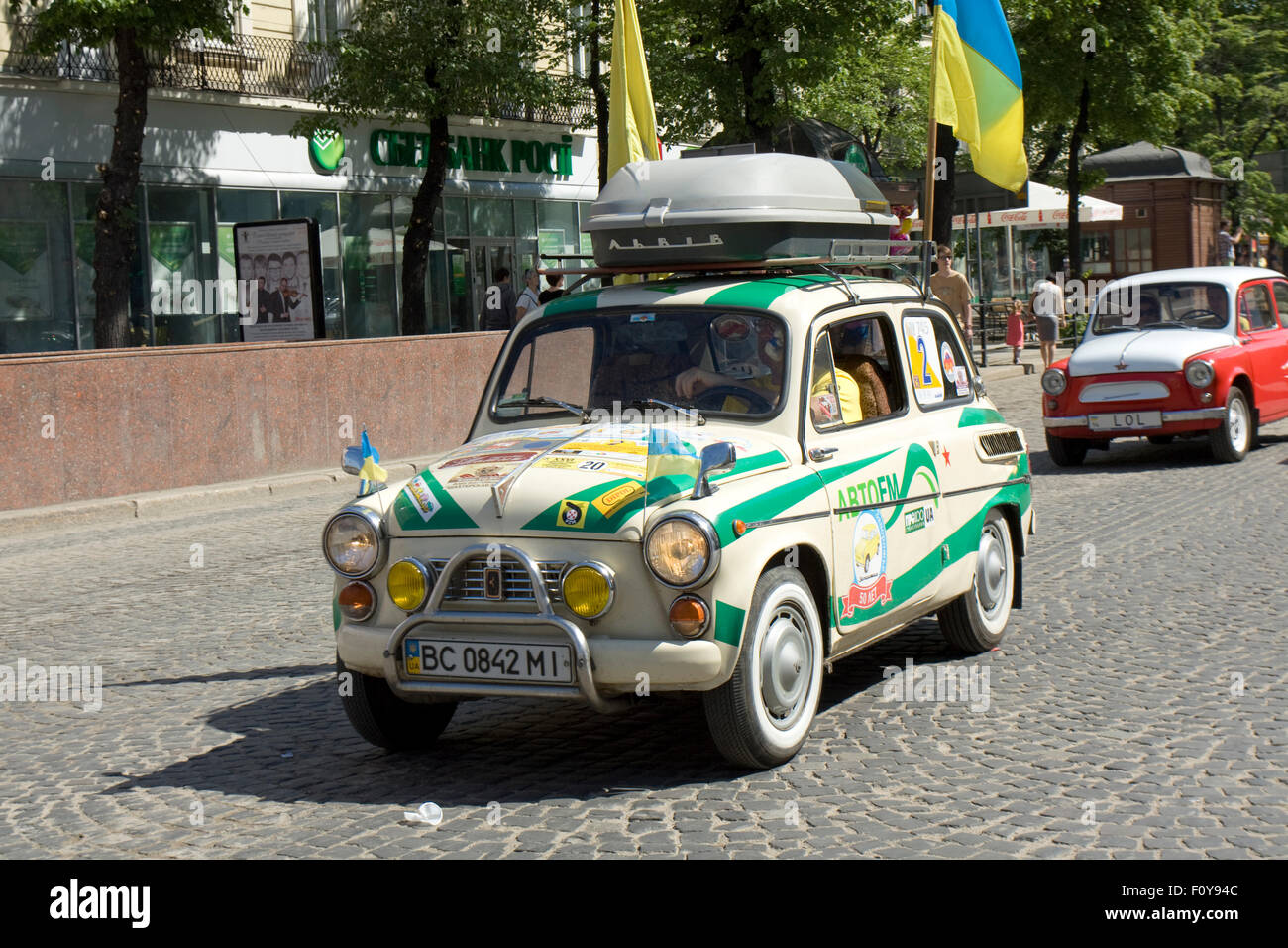 LVOV, UKRAINE - MAY 11: Russian and Ukrainian old retro car of Stock ...