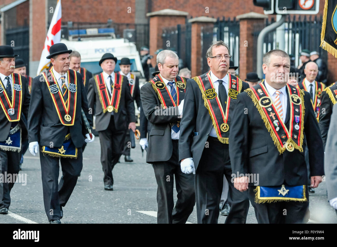 Belfast, Northern Ireland. 23 Aug 2015 - Belfast District of the Royal Black Preceptory, one of the Loyal Orders - Stock Image