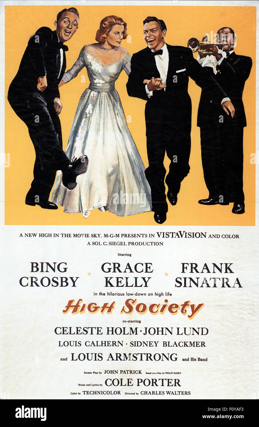 High Society - 06 - Movie Poster - Stock Image