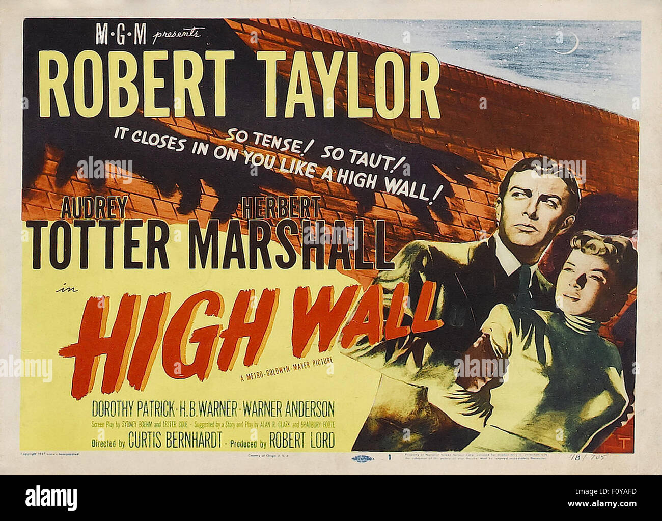 High Wall - 02 - Movie Poster - Stock Image