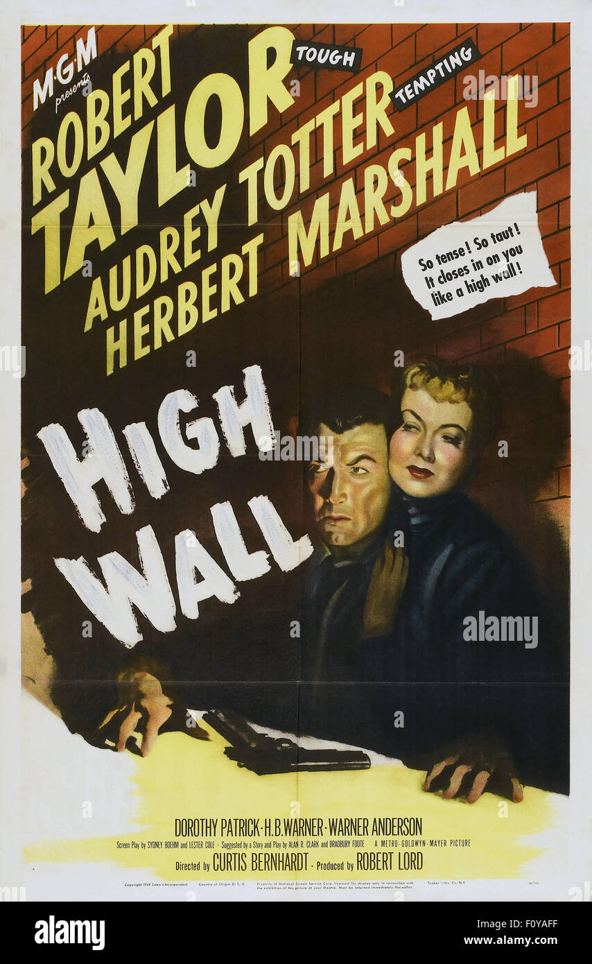 High Wall - 06 - Movie Poster - Stock Image