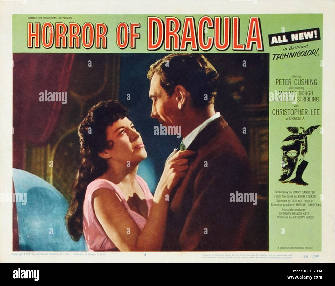 Horror of Dracula - 19 - Movie Poster - Stock Image