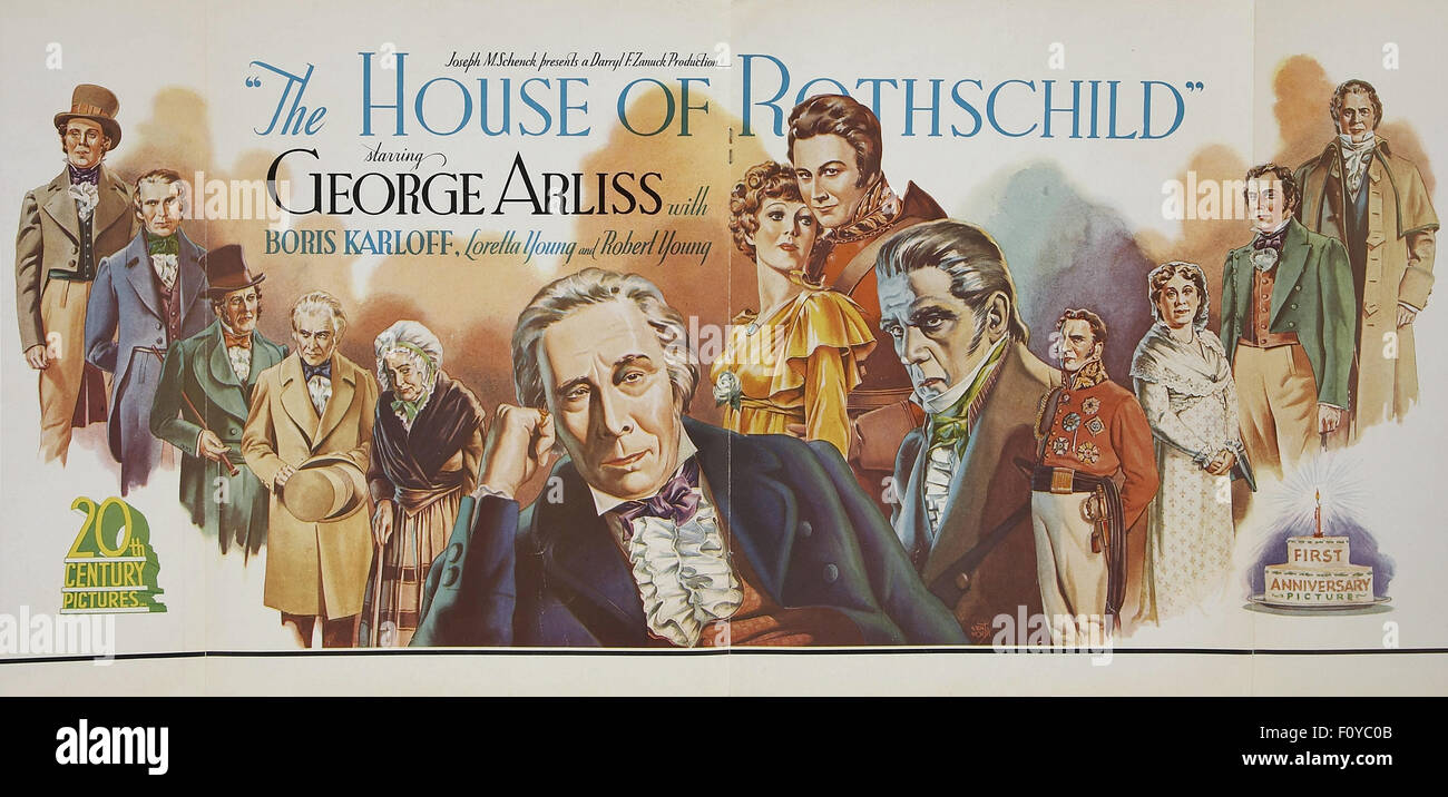 The House of Rothschild - 07 - Movie Poster - Stock Image