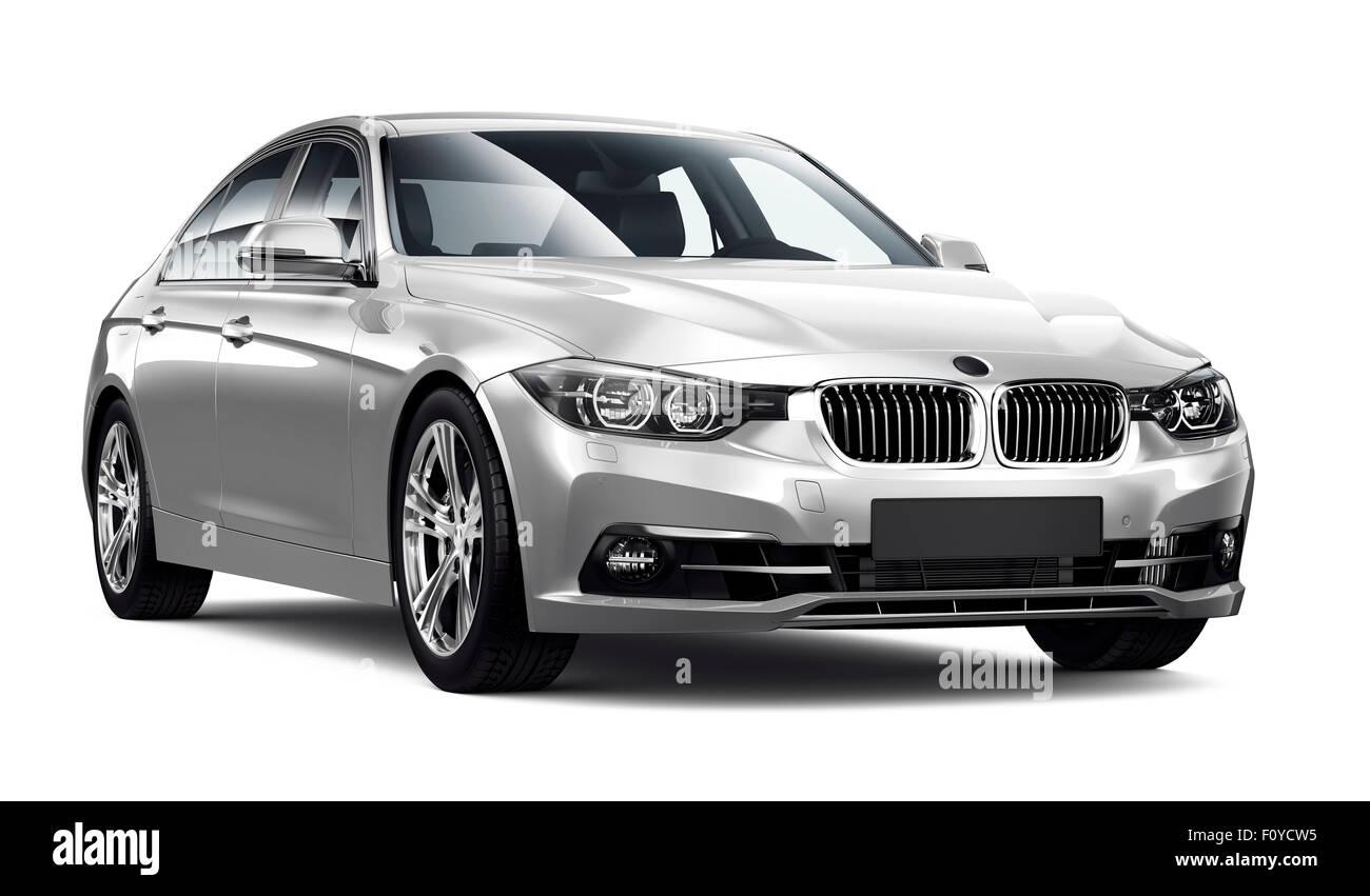 Modern white executive car - Stock Image