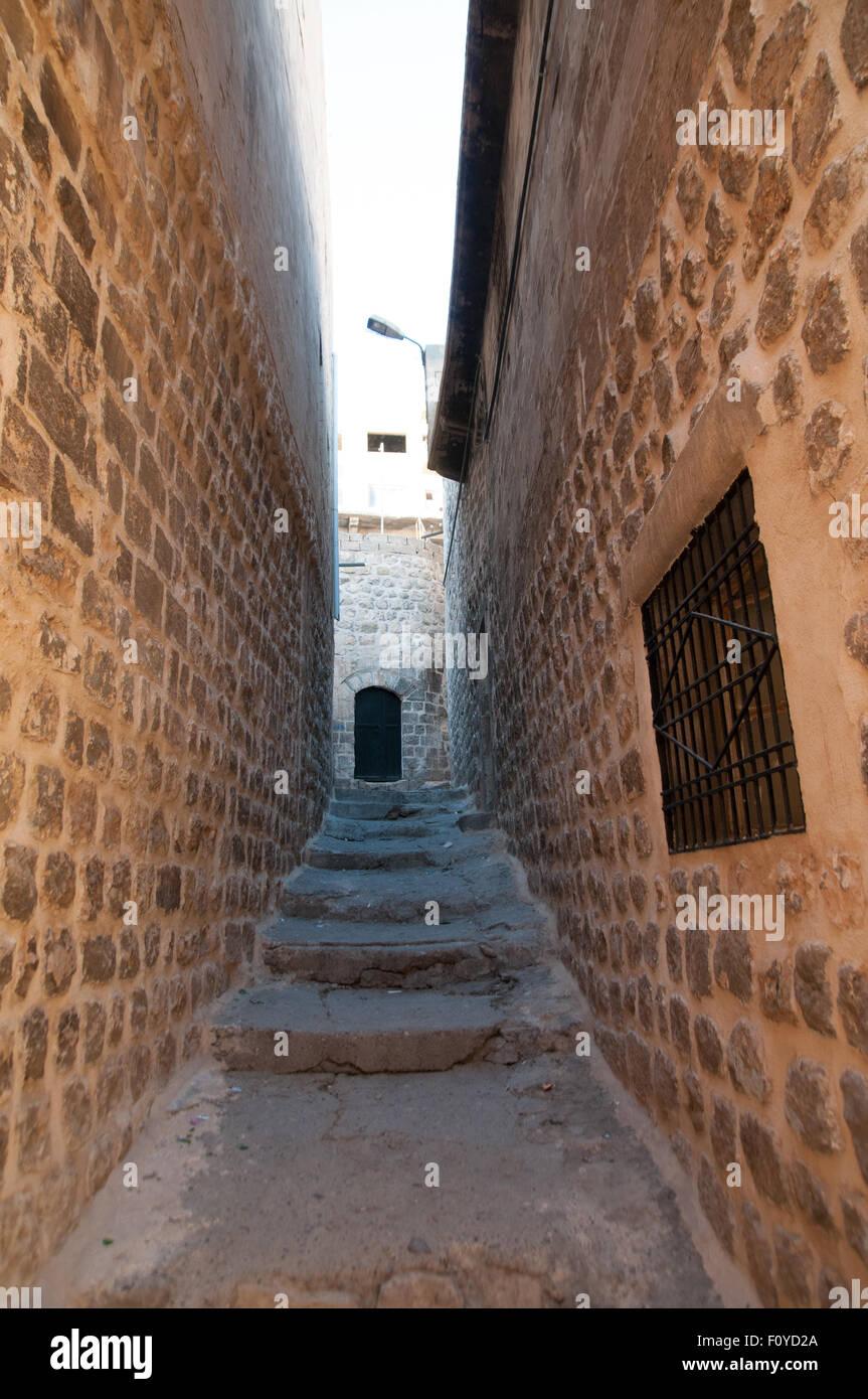 Streets of Mardin, Turkey - Stock Image