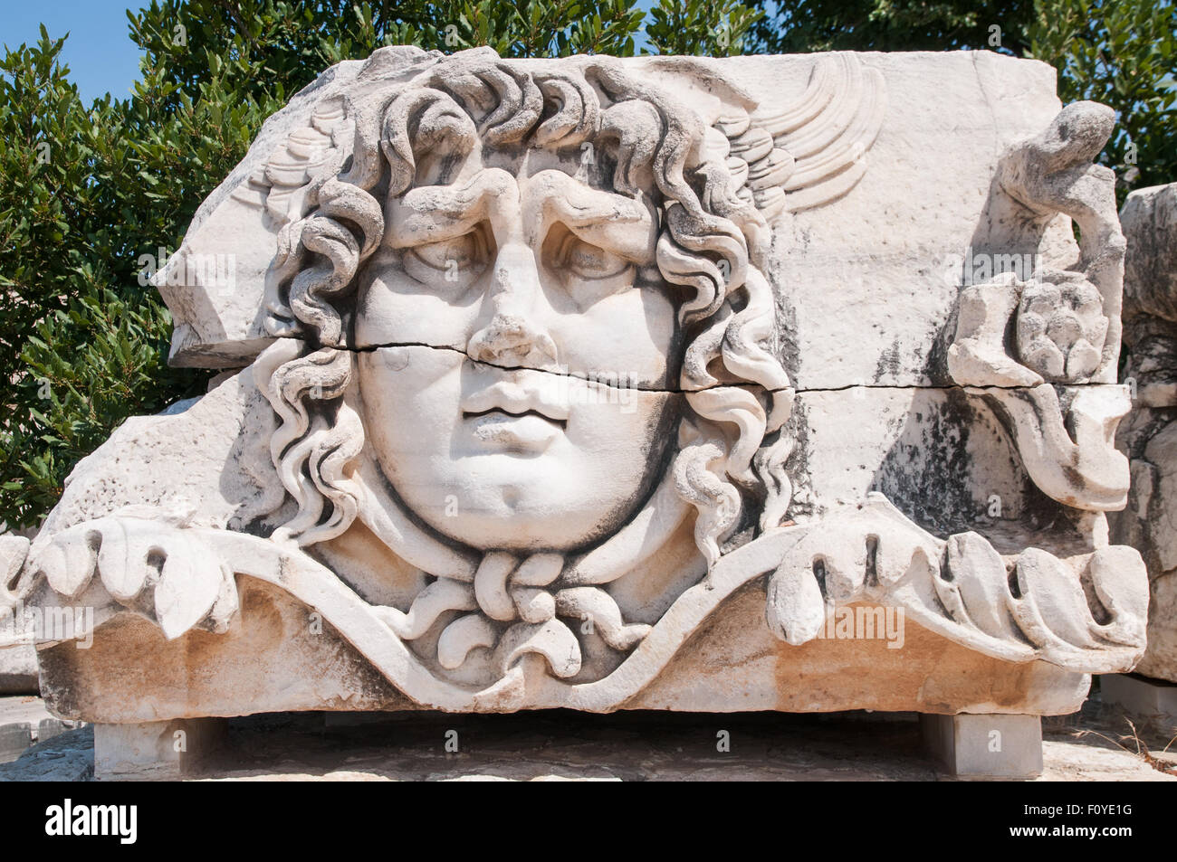 Medusa Gorgon in Apollo Temple, Didyma - Stock Image