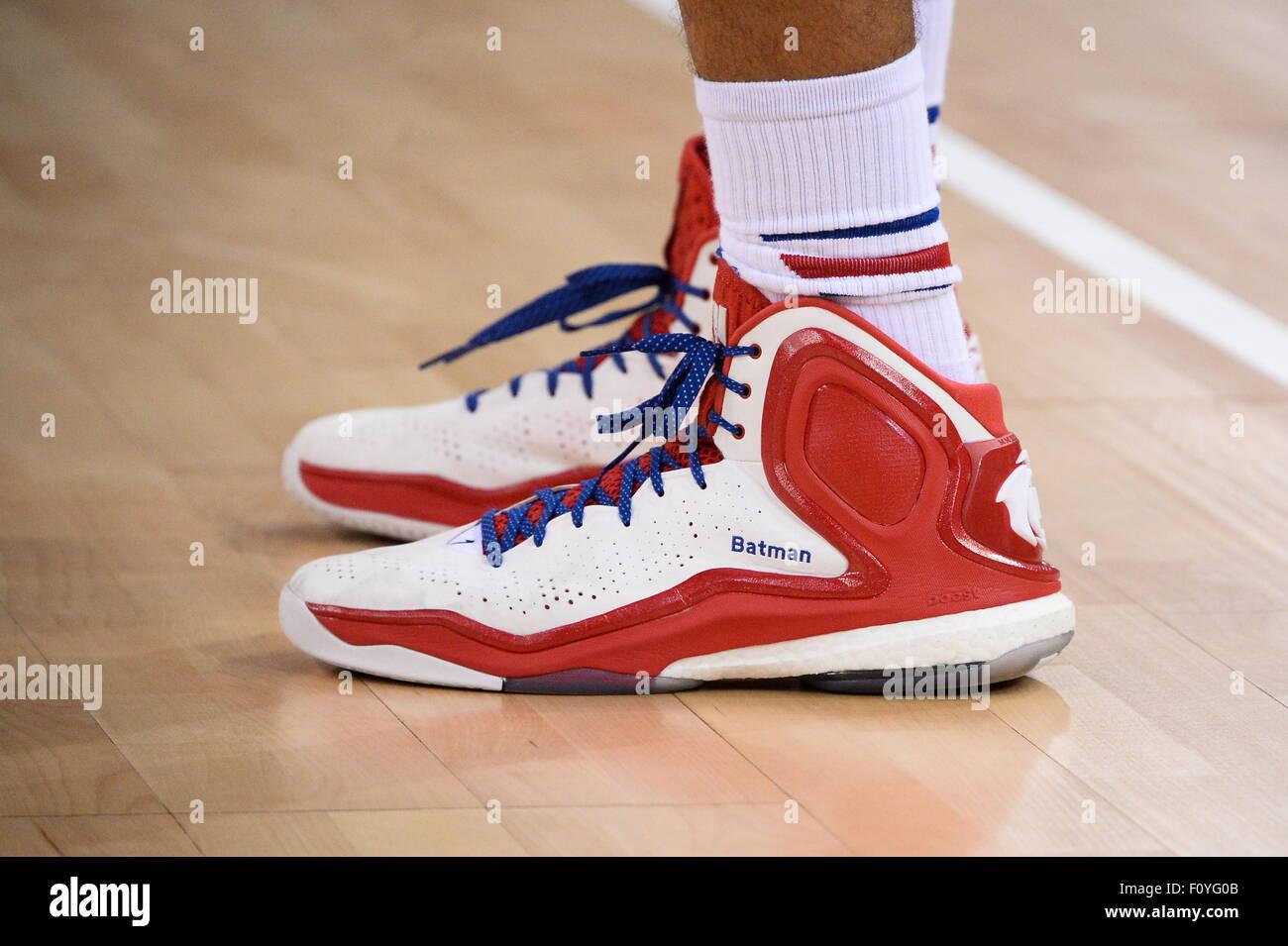 chaussures Nicolas BATUM - 21.08.2015 - France/Georgie - Match amical.Photo : Nolwenn Le Gouic/Icon Sport - Stock Image