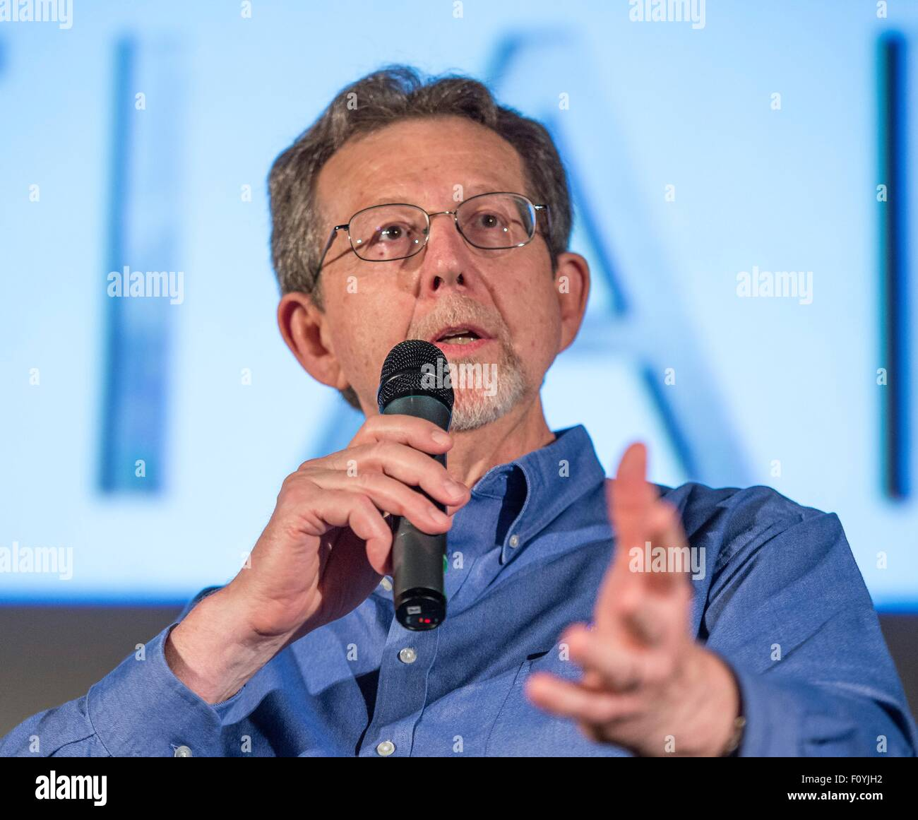 Jim Green, Director of the Planetary Science Division, participates in a question and answer session about Mars - Stock Image